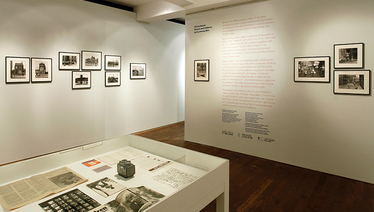 Image of the exhibition showing wall typography